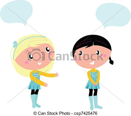 450x399 Two Cute School Girls Talking About Something Little Girls