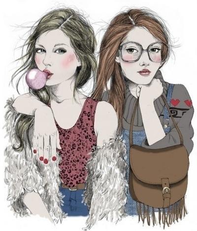 400x468 Drawing Drawings Girls Girly Nonsensewelike