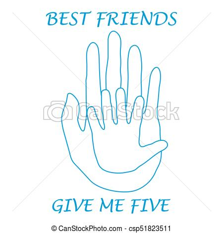 450x470 Cute Vector Illustration Of Two Hands Adult And Child Giving