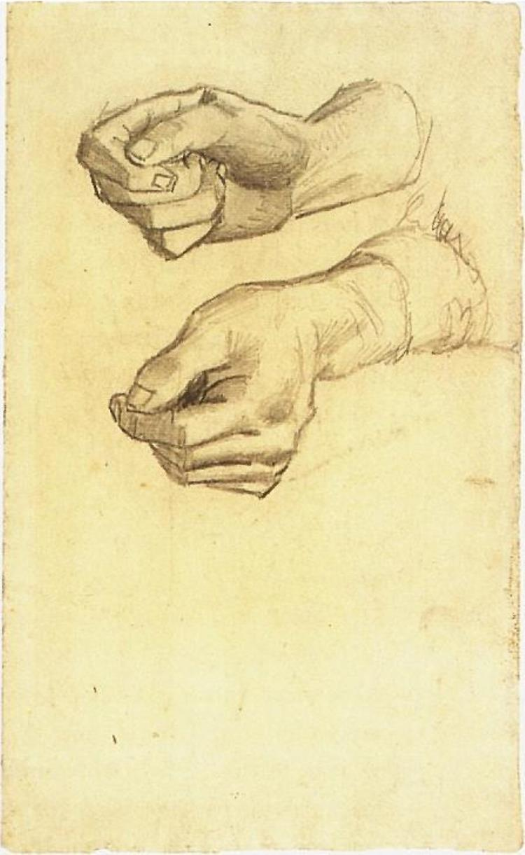 750x1221 Two Hands By Vincent Van Gogh