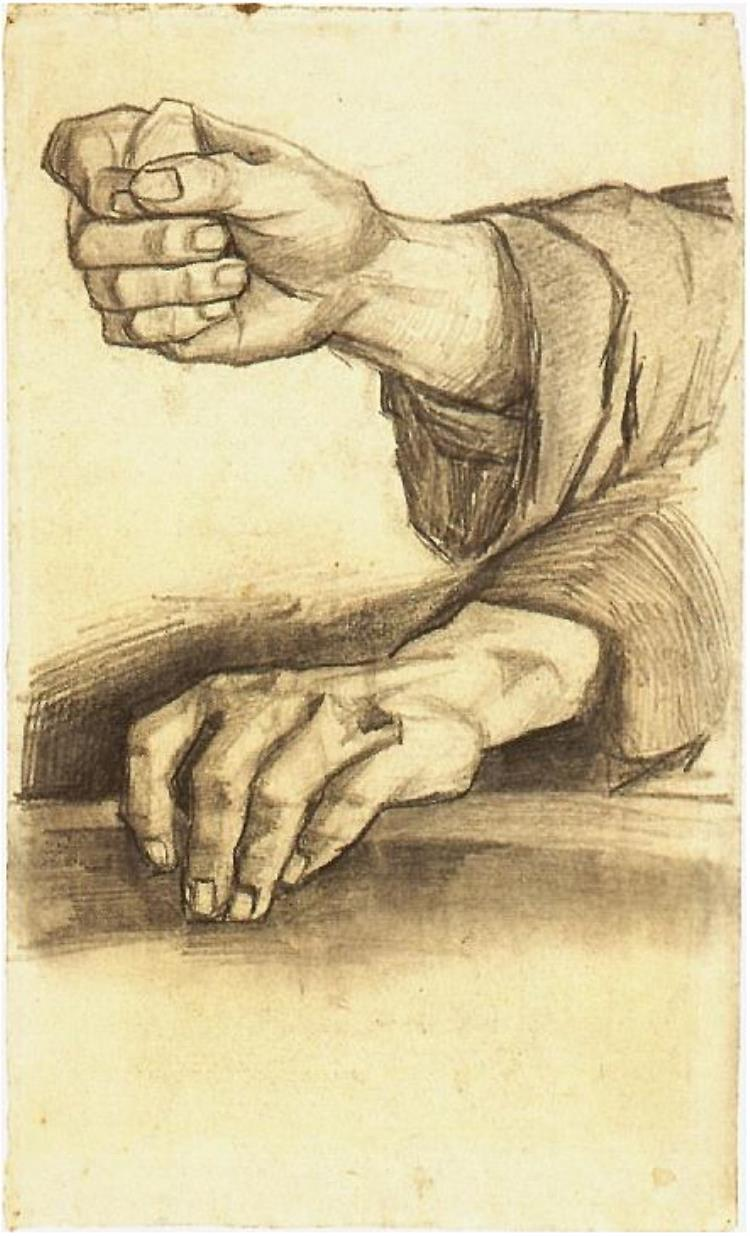 750x1236 Two Hands By Vincent Van Gogh