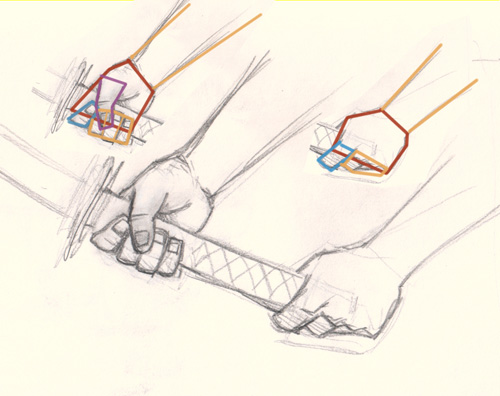 500x396 How To Draw Hand Holding Sword