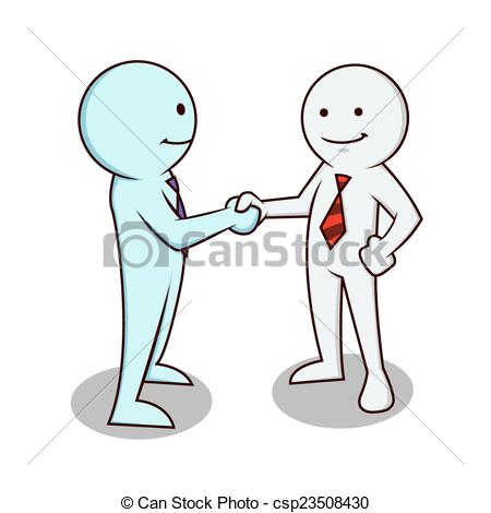 450x470 Businessman Shake Hand. Two Business People Shaking Hands Vectors