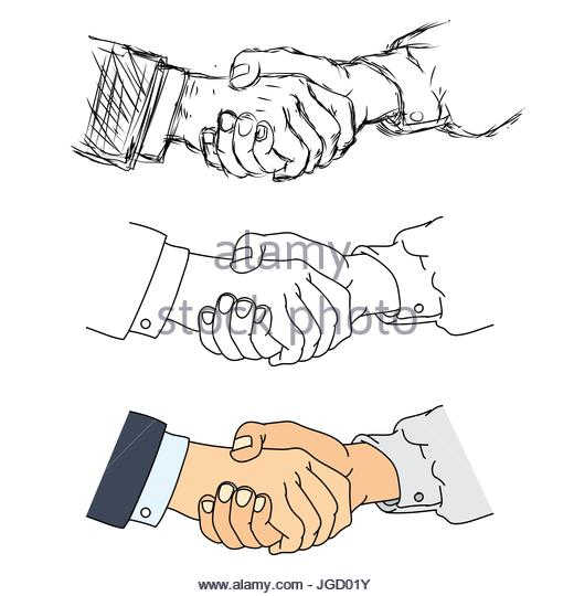 520x540 Shaking Hands Friends Stock Vector Images