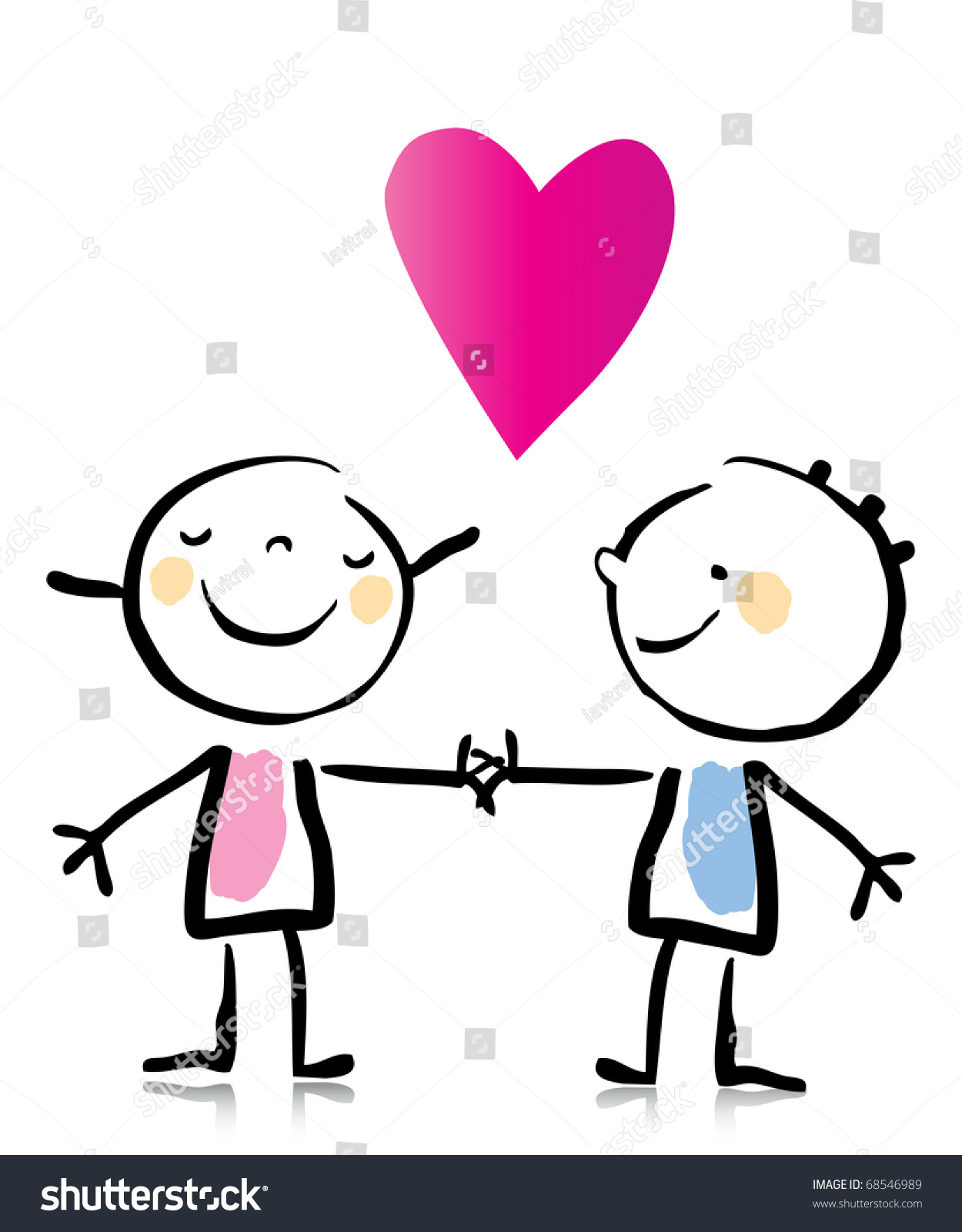 1250x1600 Cartoon Drawings Of People In Love Valentines Day Two People Love