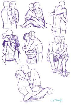 236x347 Couple Two People Hugging Drawing People Hugging