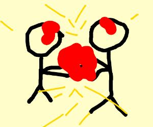 300x250 A Drawing Of Two People Fighting (Drawing By Megan Korwek)