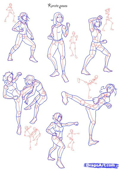 400x566 Fighting Positions Drawings Fighting Poses