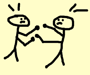 300x250 Two People Fighting