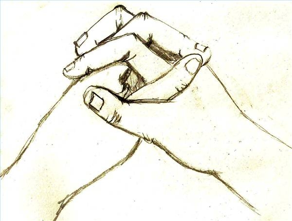 Two People Holding Hands Drawing At Getdrawings Com Free For