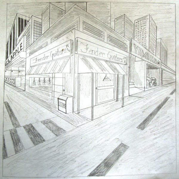 two point perspective building drawing at getdrawings com free for