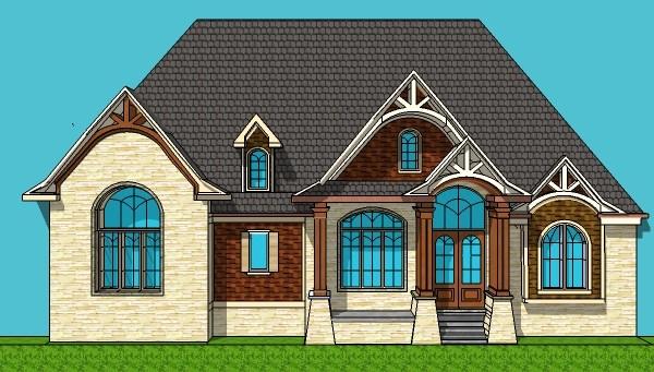 600x341 House Drawings Of Blueprints 2 Bedroom Home Floor Plan Single