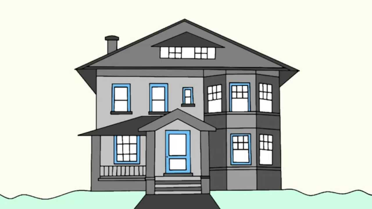 1280x720 How To Draw A House Step By Step For Beginners