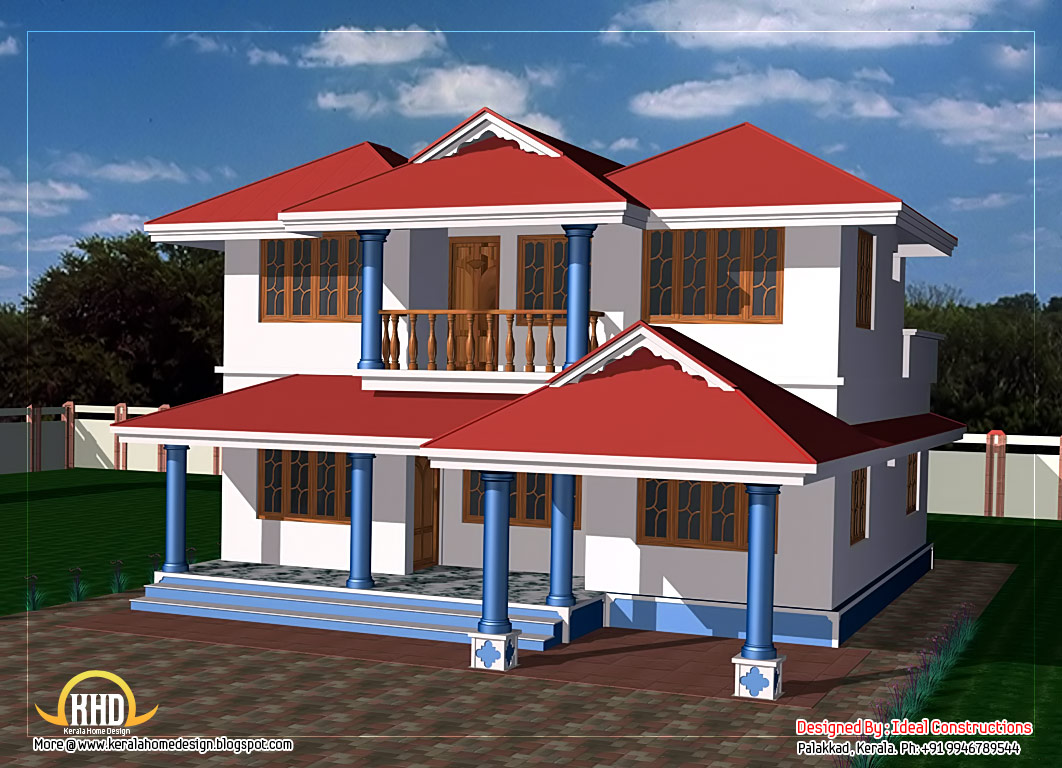 Beau 1062x768 Two Story House Plan Kerala Home Design Floor