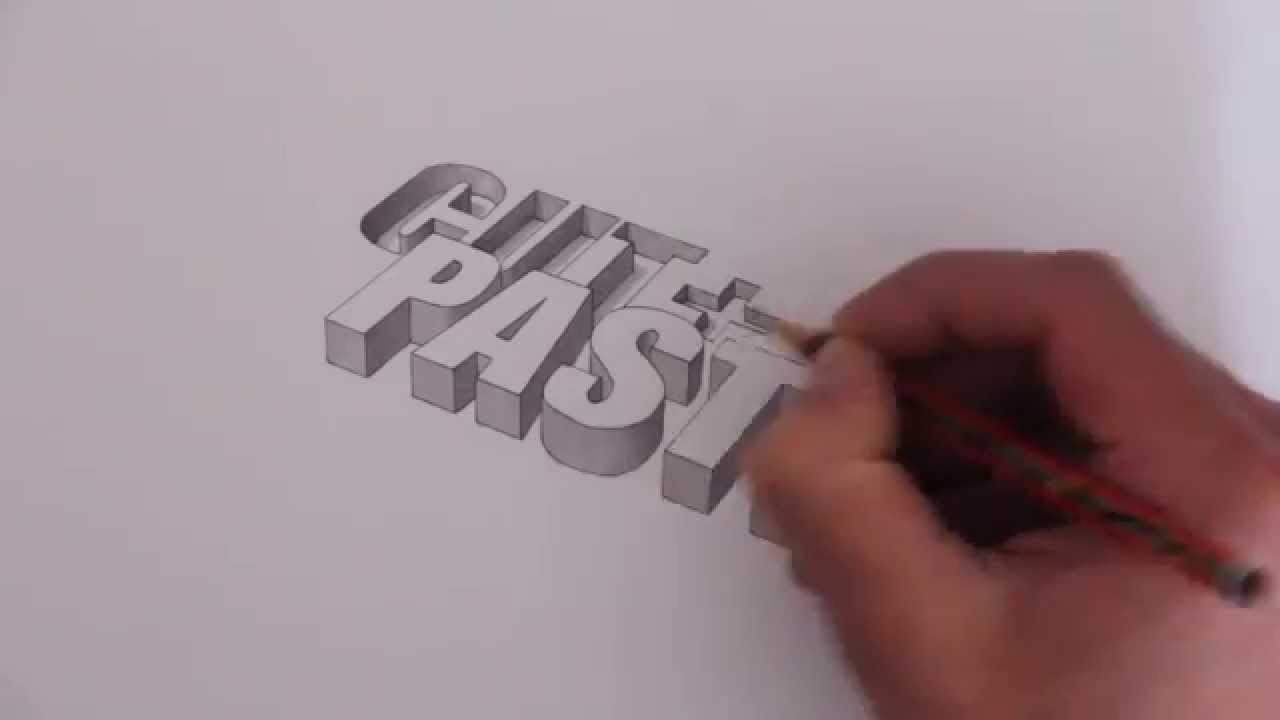 1280x720 3d Typography Speed Drawing