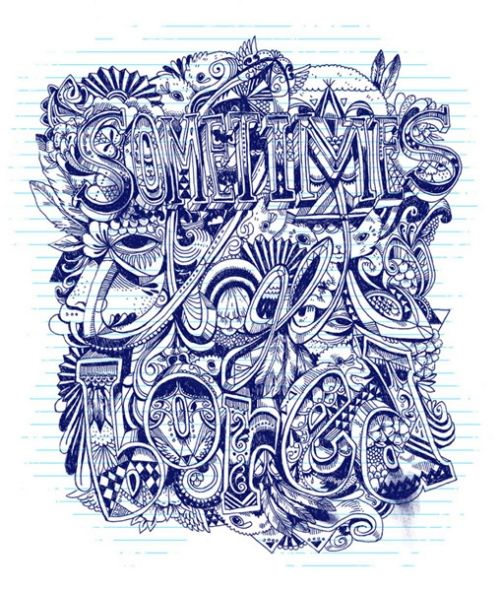 500x591 40 Beautiful Examples Of Hand Drawn Typography Hand Drawn