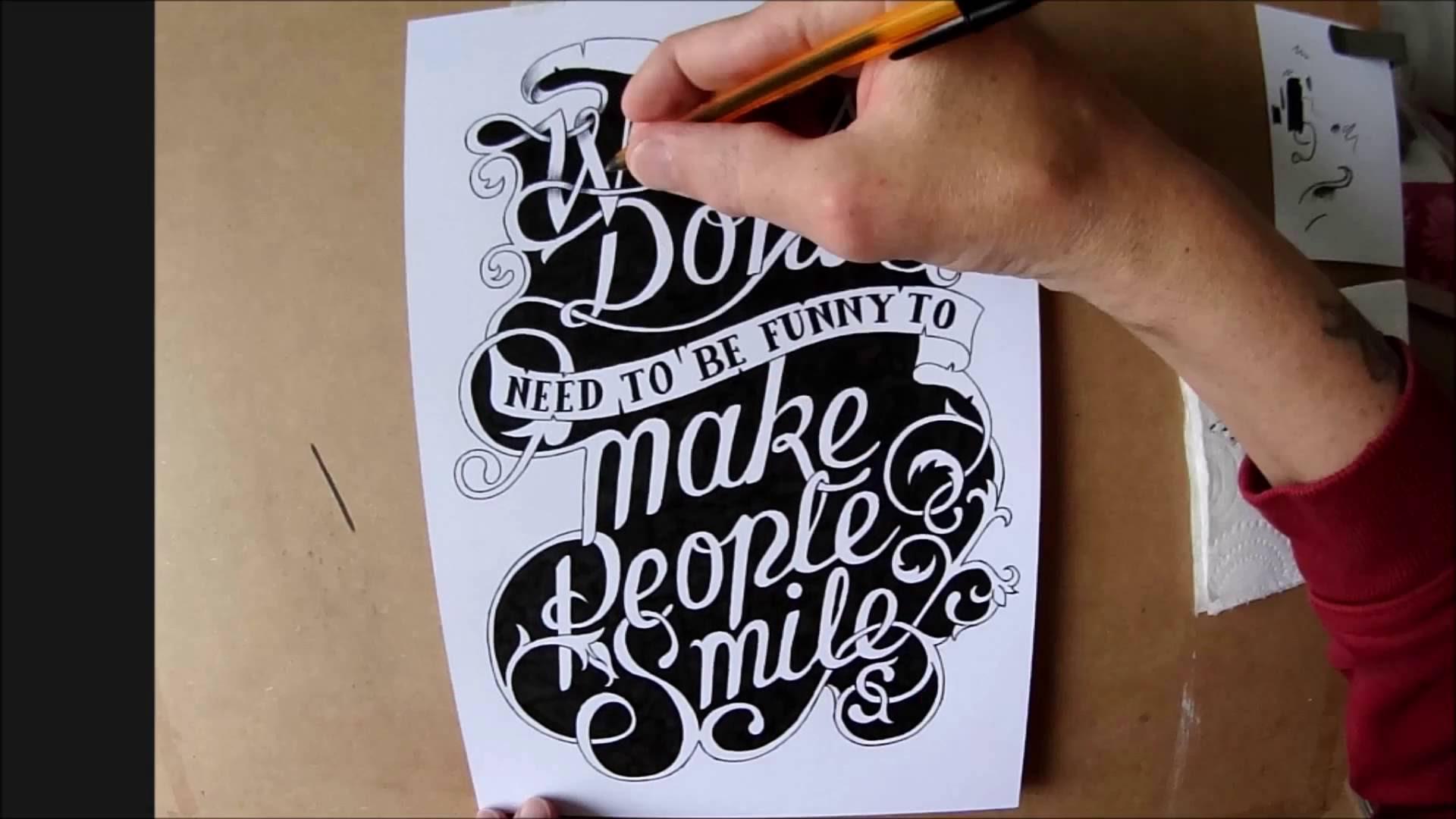 1920x1080 Hand Drawn Typography