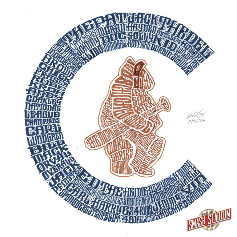 770x770 Saatchi Art Chicago Cubs 1908 World Series Typography Drawing By