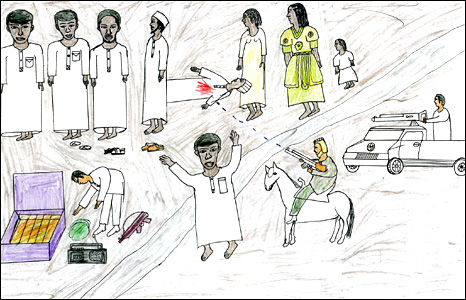 466x300 Bbc News In Pictures In Pictures Child Drawings Of Darfur