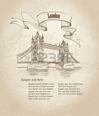 381x450 Drawing Big Ben Of Tower In London, Uk Royalty Free Cliparts
