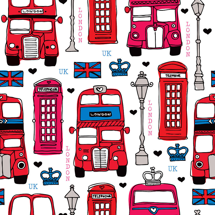 900x900 London Uk Illustration Drawing By Little Smilemakers Studio