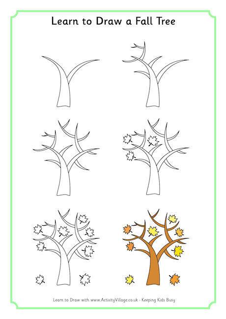 460x650 To Draw A Fall Tree
