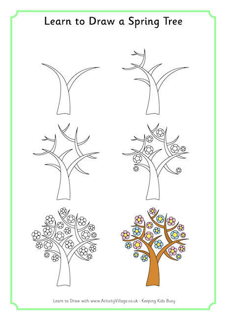 460x650 Learn To Draw A Spring Tree 46