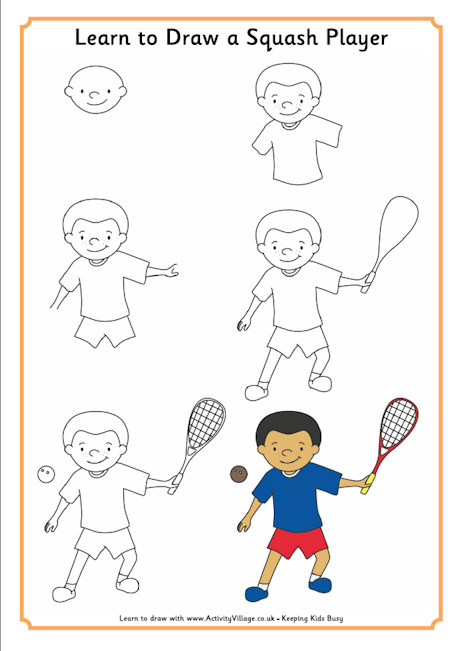 460x651 Learn To Draw A Squash Player