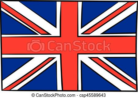 450x320 Great Britain Flag Icon Cartoon. Great Britain Flag Icon In Eps