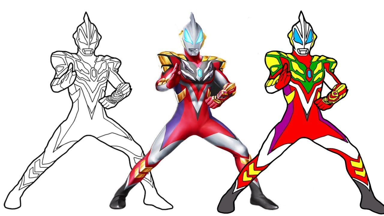 Ultraman Coloring Pages How to draw Ultraman Geed Fusion