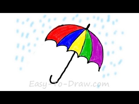 480x360 How To Draw A Cartoon Umbrella In The Rain