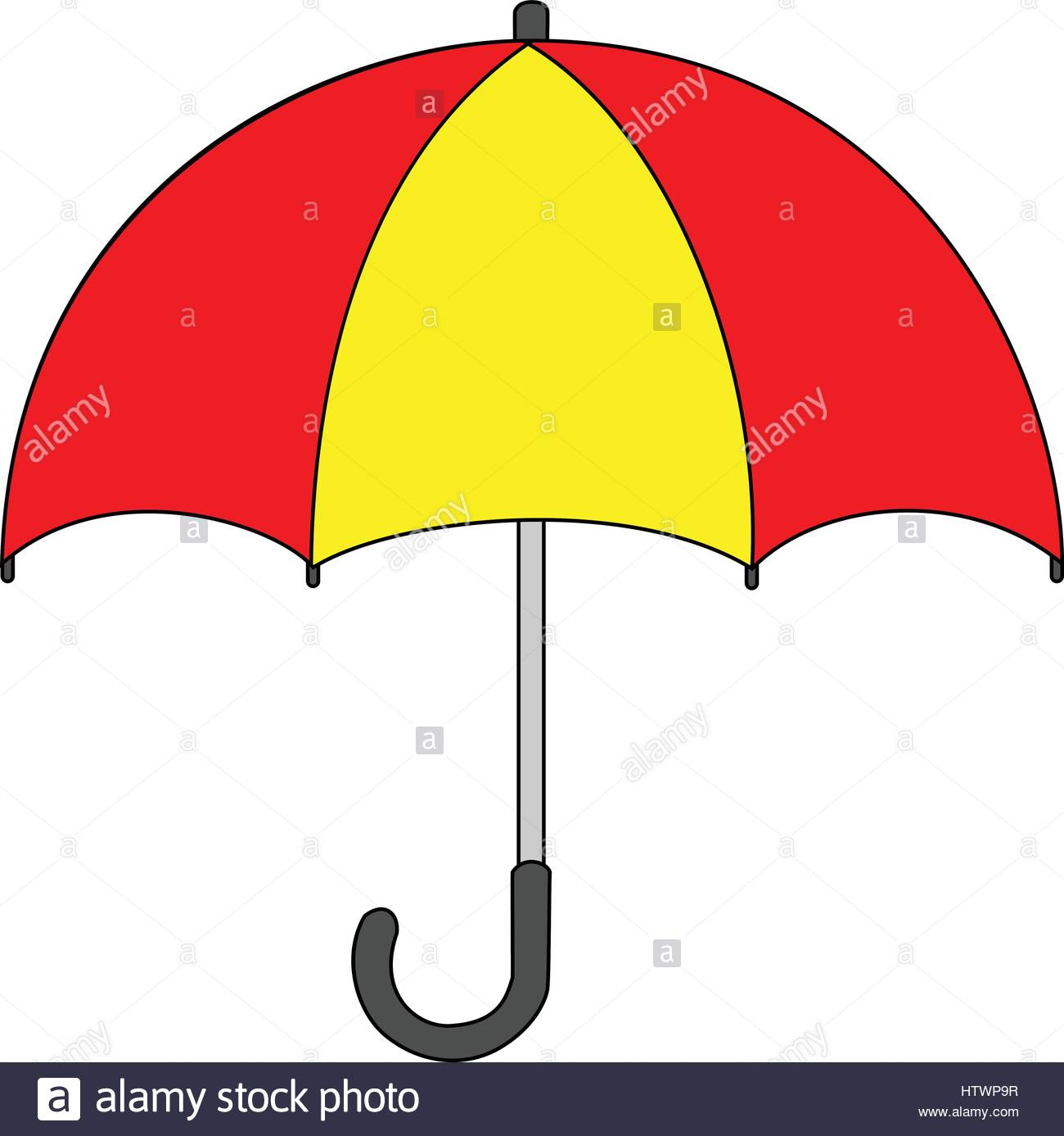 1300x1387 Illustration Of Isolated Umbrella Cartoon Drawing. Vector Eps 8