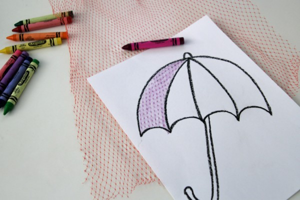 600x400 Draw A Rainy Day Textured Umbrella Make And Takes