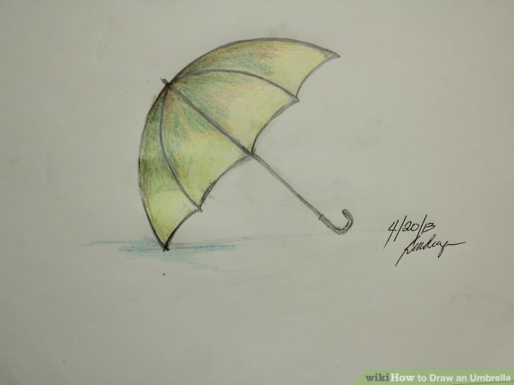 728x546 How To Draw An Umbrella (With Pictures)