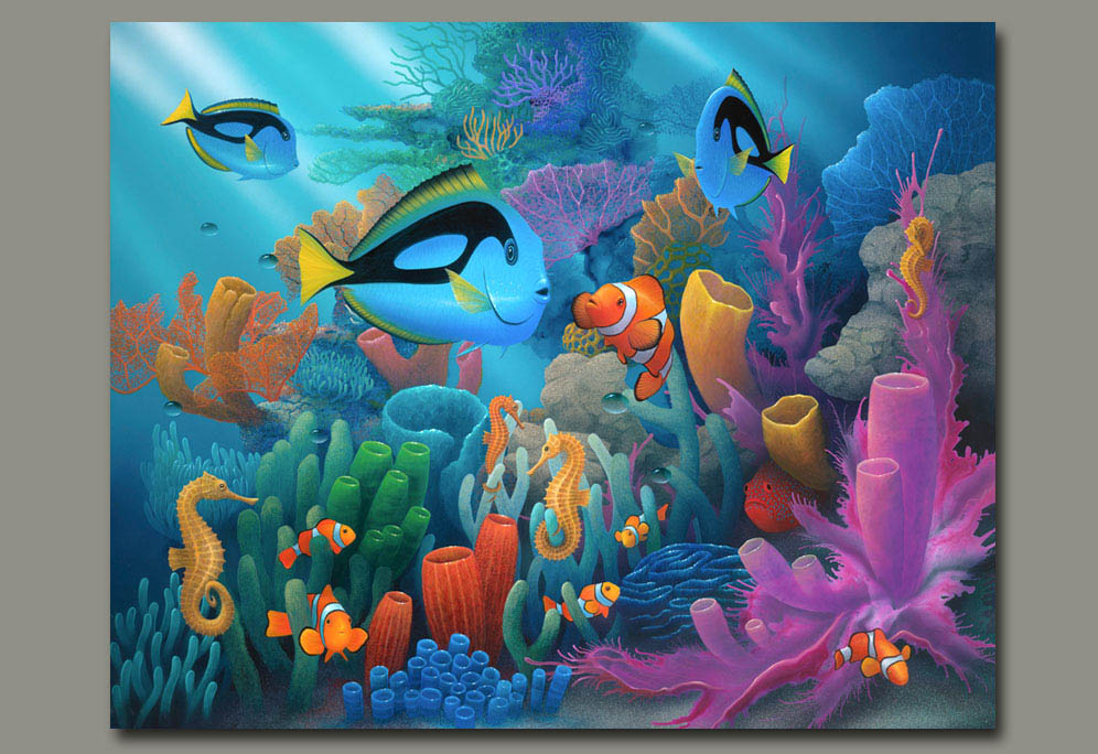 996x684 Sea Horse Paintings And Under The Ocean By Artist David