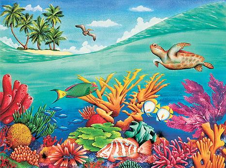 Ocean Floor Under the Sea Painting