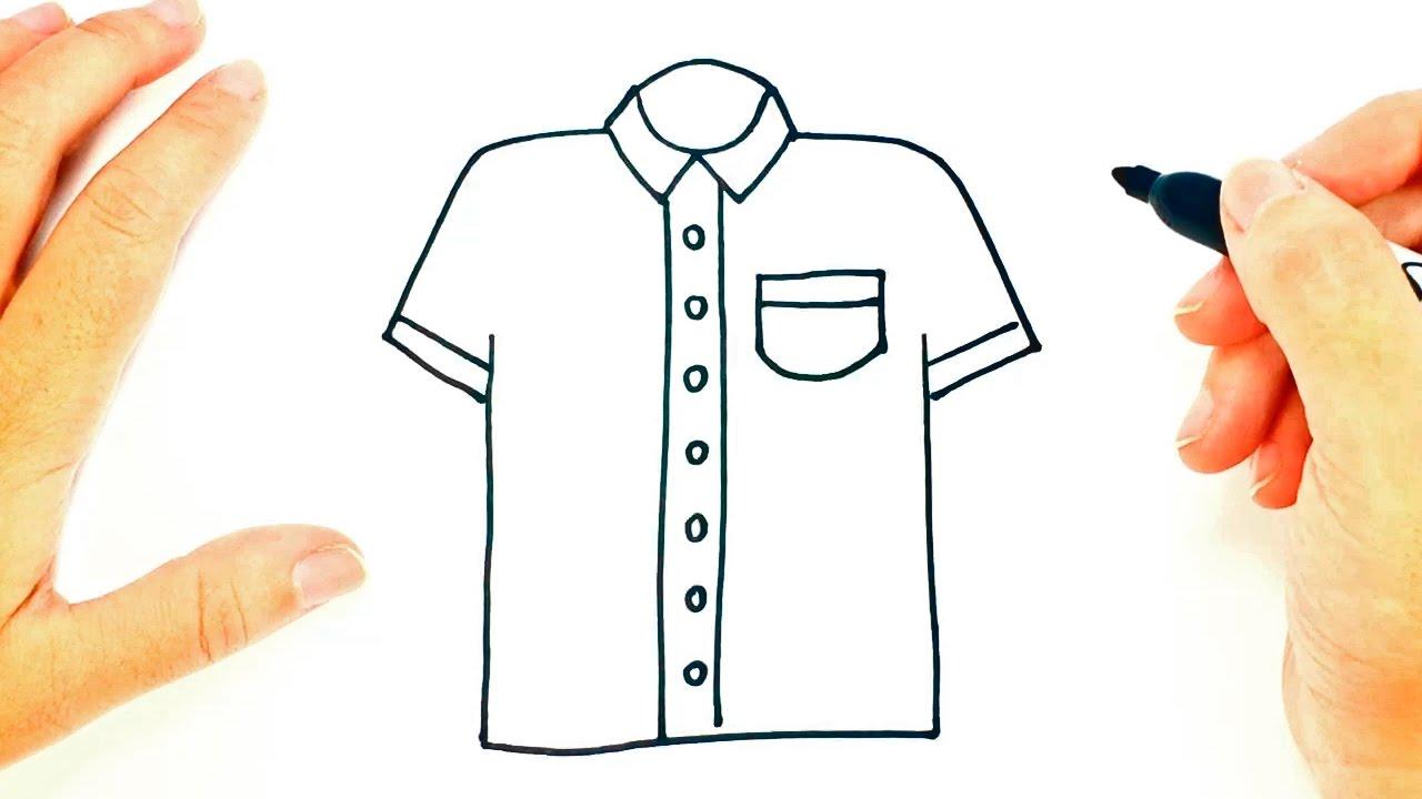1280x720 How To Draw A Shirt Shirt Easy Draw Tutorial