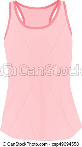 261x470 Women Pink Top Tank Vector Illustration Clipart Vector