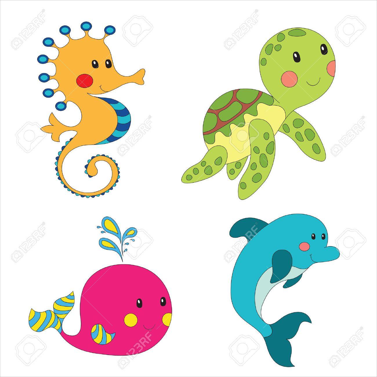 1300x1300 Pictures Of Cartoon Underwater Sea Creatures