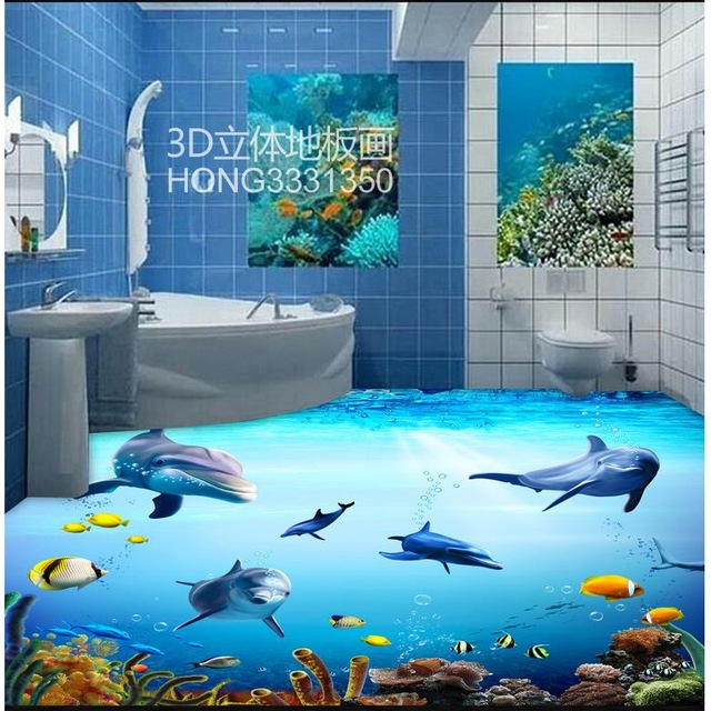640x640 Custom Photo Wallpaper 3d Flooring Painting Wallpaper Underwater
