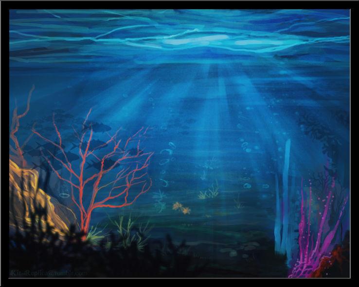 738x591 Underwater Landscape Drawing Wonderful Design Tag