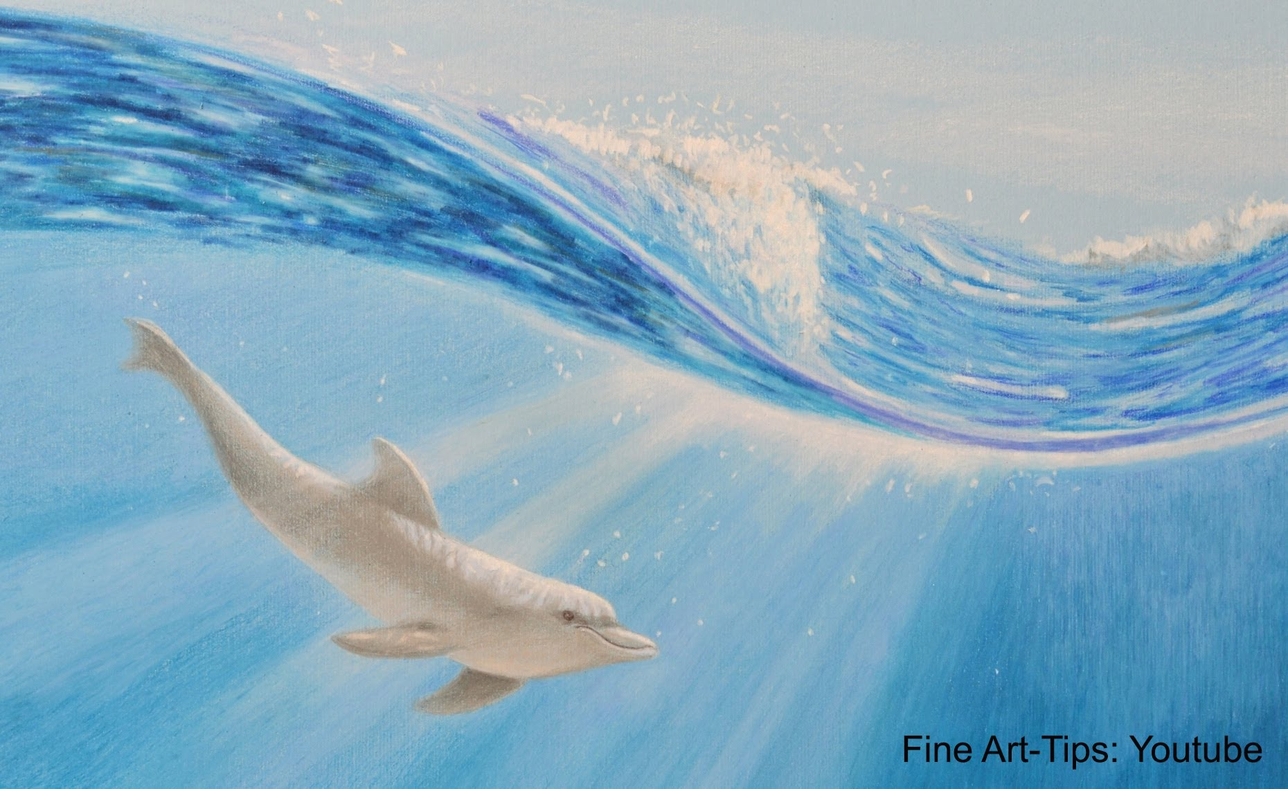 1860x1140 How To Draw A Dolphin Underwater With Color Pencils