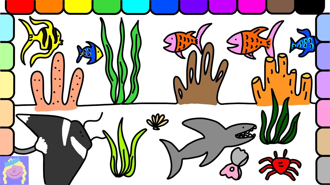 1280x720 Learn How To Draw An Underwater Scene With This Easy Drawing