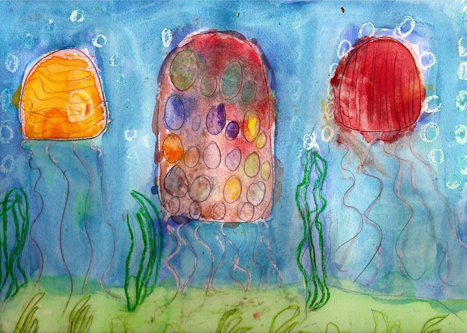 1600x1142 The Elemental Art Room More Underwater Scenes Watercolor Resist