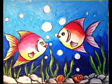 480x360 How To Draw Underwater Scenery Step By Step Oil Pastel