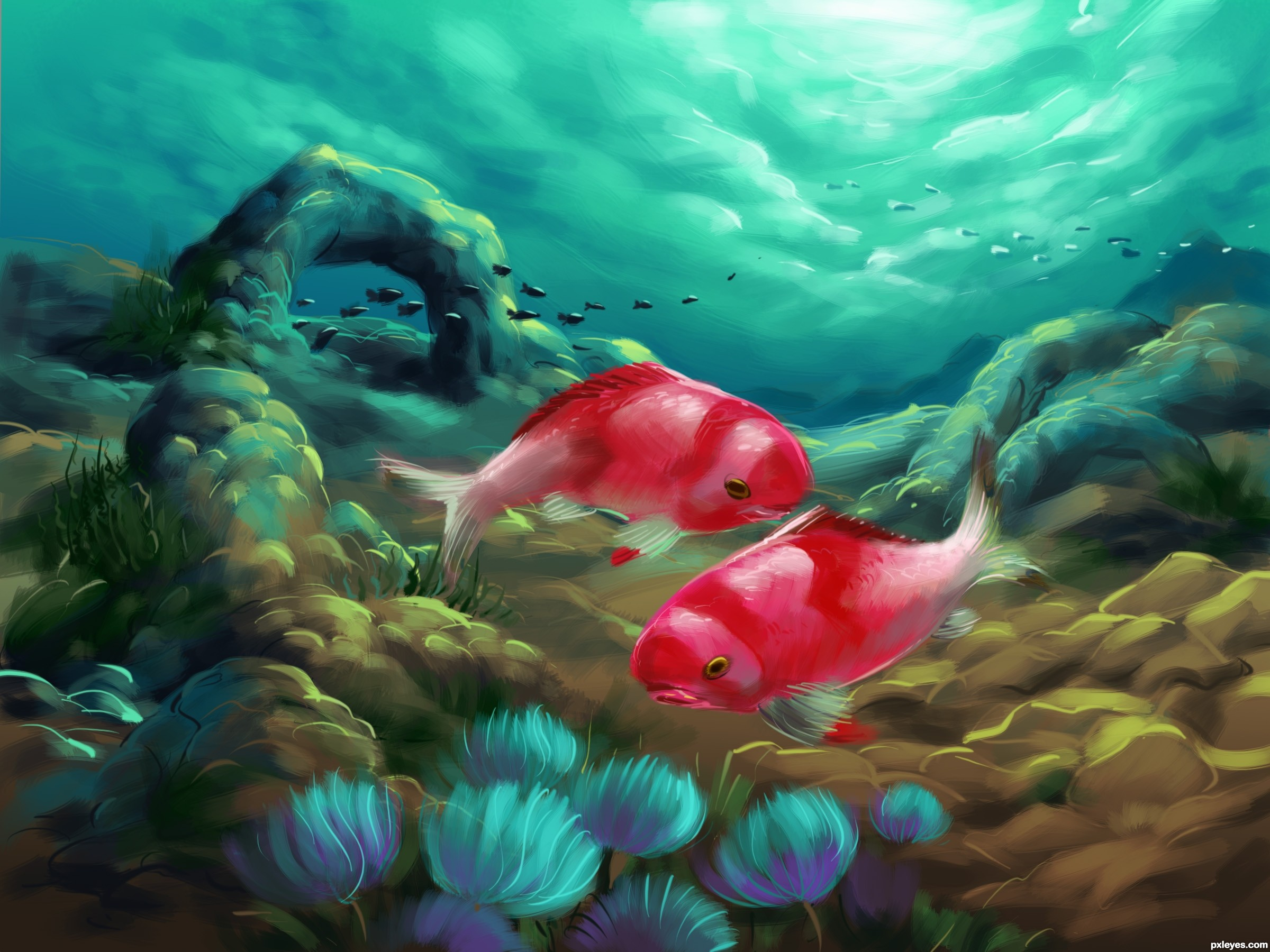 underwater scene drawing at getdrawings | free for personal use