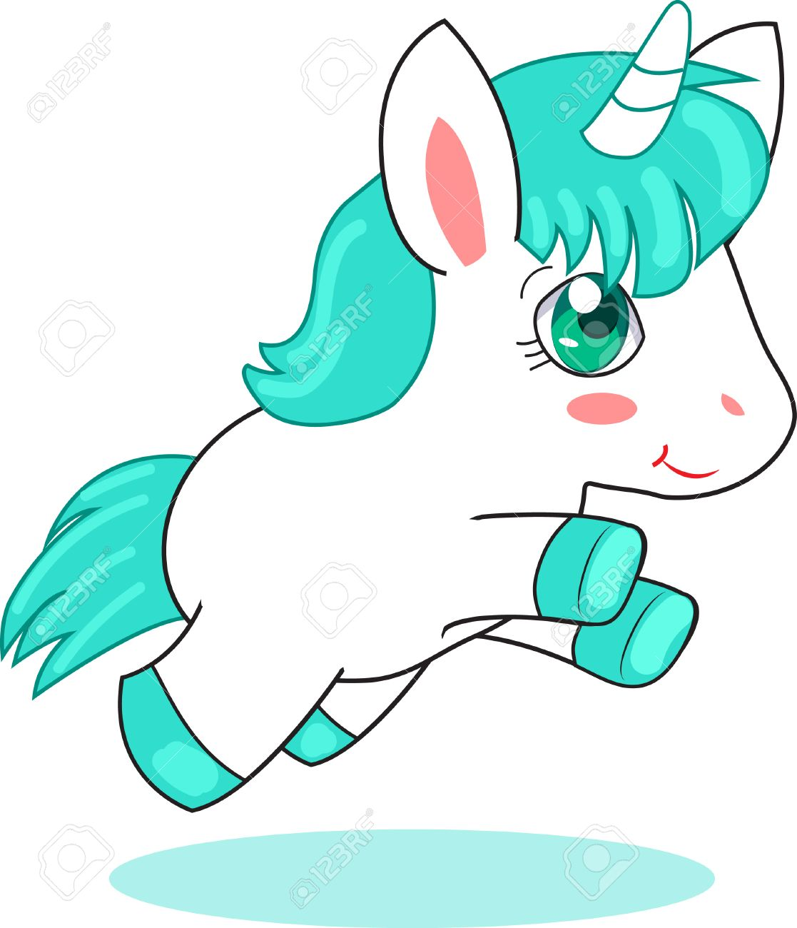 1117x1300 Cute Unicorn Pegasus. Vector Illustration On A White Background