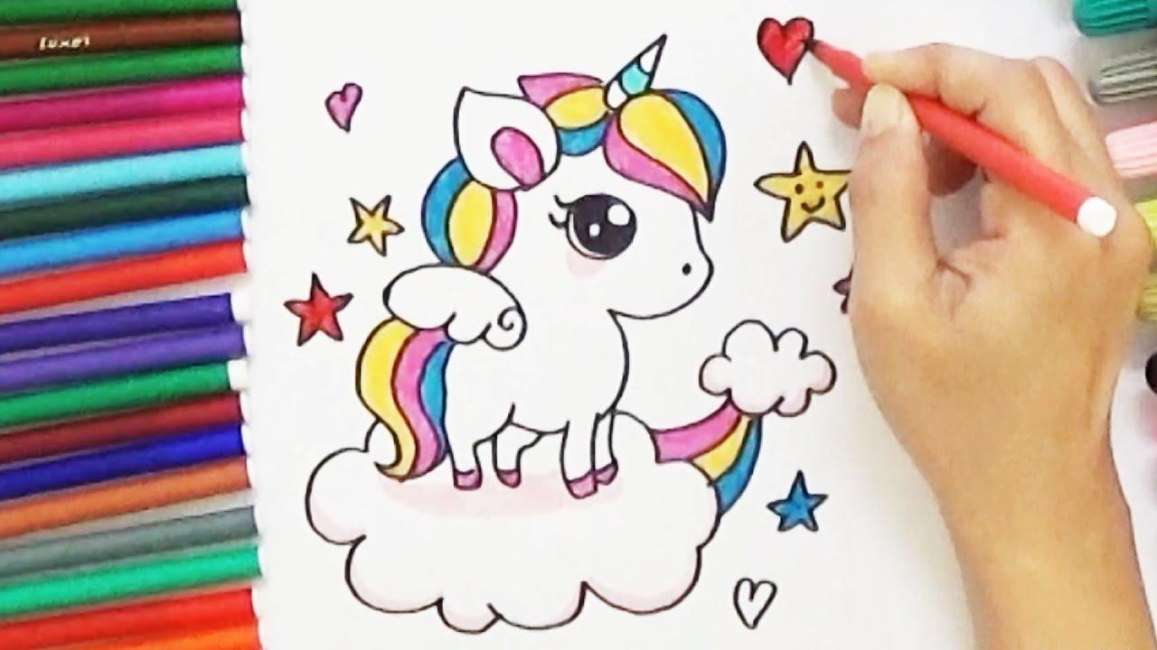 1280x720 How To Draw A Cartoon Unicorn