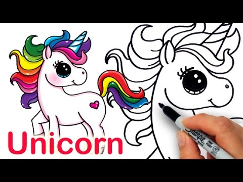 480x360 How To Draw A Cartoon Unicorn Farting Easy And Cute