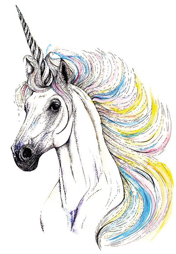 567x816 Drawing Of The Week A Rainbow Unicorn! Ella's Place